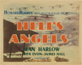 "Movie Posters:War, Hell's Angels (United Artists, 1930). Title Lobby Card (11"" X 14"")...."