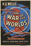 "Movie Posters:Science Fiction, The War of the Worlds (Paramount, 1953). Poster (40"" X 60"")...."