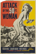 "Movie Posters:Science Fiction, Attack of the 50 Foot Woman (Allied Artists, 1958). Poster (40"" X60"")...."