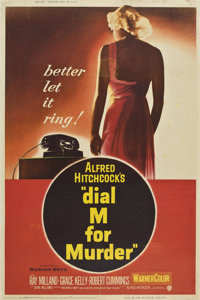 "Dial M For Murder (Warner Brothers, 1954). Poster (40"" X 60"")"