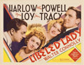 "Movie Posters:Comedy, Libeled Lady (MGM, 1936). Title Lobby Card (11"" X 14"")...."