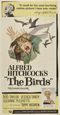 "Movie Posters:Hitchcock, The Birds (Universal, 1963). Three Sheet (41"" X 81"")...."