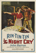 "Movie Posters:Drama, The Night Cry (Warner Brothers, 1926). One Sheet (27"" X 41"")...."
