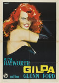 "Movie Posters:Film Noir, Gilda (Columbia, R-1950s). Italian 2 - Folio (39"" X 55"")...."