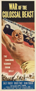 "Movie Posters:Science Fiction, War of the Colossal Beast (American International, 1958). Insert(14"" X 36"")...."