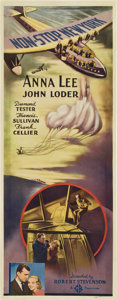 """Movie Posters:Mystery, Non-Stop New York (Gaumont, 1937). Insert (14"""" X 36"""")...."""