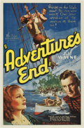 "Movie Posters:Adventure, Adventure's End (Universal, 1937). One Sheet (27"" X 41"")...."