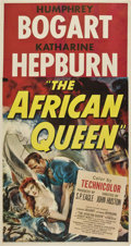"Movie Posters:Adventure, The African Queen (United Artists, 1952). Three Sheet (41"" X81"")...."