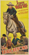"Movie Posters:Western, The Trail Beyond (Monogram, 1934). Three Sheet (41"" X 81"")...."
