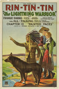 "Movie Posters:Serial, The Lightning Warrior (Mascot, 1931). One Sheet (27"" X 41"").Chapter 12 -- ""Painted Faces.""..."