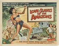 "Love Slaves of the Amazons (Universal International, 1957). Half Sheet (22"" X 28"")"