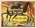 "Movie Posters:Science Fiction, Beginning of the End (Republic, 1957). Half Sheet (22"" X 28"")...."
