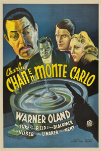 """Charlie Chan at Monte Carlo (20th Century Fox, 1937). Argentinean Poster (29"""" X 44"""")"""