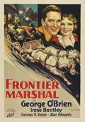 "Movie Posters:Western, Frontier Marshal (Fox, 1933). One Sheet (27"" X 41"")...."