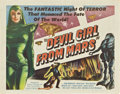 "Movie Posters:Science Fiction, Devil Girl From Mars (Spartan, 1955). Half Sheet (22"" X 28"")...."