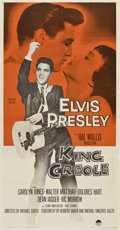 "Movie Posters:Elvis Presley, King Creole (Paramount, 1958). Three Sheet (41"" X 81"")...."