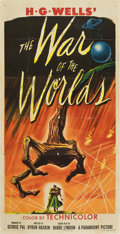 "Movie Posters:Science Fiction, The War of the Worlds (Paramount, 1953). Three Sheet (41"" X81"")...."