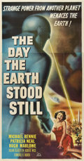 "Movie Posters:Science Fiction, The Day the Earth Stood Still (20th Century Fox, 1951). Three Sheet(41"" X 81"")...."