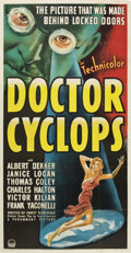 "Movie Posters:Horror, Doctor Cyclops (Paramount, 1940). Three Sheet (41"" X 81"")...."