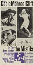 "Movie Posters:Drama, The Misfits (United Artists, 1961). Three Sheet (41"" X 81"")...."