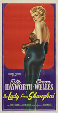 "Movie Posters:Film Noir, The Lady From Shanghai (Columbia, 1947). Three Sheet (41"" X 81"")...."