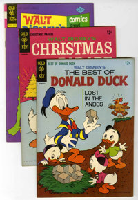 Gold Key Disney Duck Group Signed by Carl Barks (Gold Key, 1965-75) Condition: Average VF-.... (Total: 3 Comic Books)