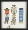 Political:Ribbons & Badges, Convention Badges: Three Political Badges, including: Democratic National Convention, Hendricks Ass'n. St. Louis, June 5, 18... (Total: 3 Items)