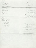 """Autographs:U.S. Presidents, Franklin D. Roosevelt: Autograph Note.. -No date. No place. 8"""" x10.5"""". One page. In pencil.. -Two horizontal fold crease, e..."""