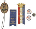 Political:3D & Other Display (1896-present), Franklin D. Roosevelt: Assorted Roosevelt Presidential Campaign Memorabilia.. -1930s-1940s. -All items are in very good cond... (Total: 6 Items)