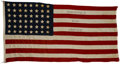 "Political:Textile Display (1896-present), Franklin D. Roosevelt: 1932 Presidential Campaign Flag.. -Measures72"" x 40"".. -No repairs, no damage. Remarkably good condi..."