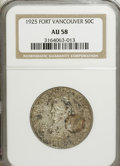 Commemorative Silver: , 1925 50C Vancouver AU58 NGC. NGC Census: (31/1977). PCGS Population(66/2796). Mintage: 14,994. Numismedia Wsl. Price for N...