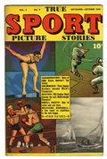 "Golden Age (1938-1955):Non-Fiction, True Sport Picture Stories V3#9 Davis Crippen (""D"" Copy) pedigree(Street & Smith, 1946) Condition: FN+...."