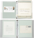 """Autographs:U.S. Presidents, FDR's Personal Secretary Grace Tully: Two Binders ofCorrespondence.. -1934-1982. Two 9.75"""" x 11.5"""" binders.. -Originalfold... (Total: 2 Items)"""