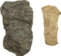 """Political:Presidential Relics, Fragments of Hearthstones from Abraham Lincoln's Boyhood Cabin Homes. Group of four fragments: an irregular piece about 2"""" x... (Total: 2 Items)"""