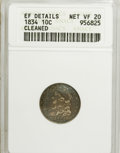 Bust Dimes: , 1834 10C Small 4--Cleaned--ANACS. XF Details Net VF20. NGC Census:(2/245). PCGS Population (0/167). Mintage: 635,000. Numi...