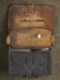 Military & Patriotic:Civil War, Bullet-Struck Federal Cartridge Box with Image and Diary. This small, yet wonderful, grouping is associated with a sadly ano...