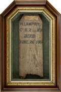 Military & Patriotic:Civil War, A Temporary Wooden Grave Marker for a Soldier Killed in Action, one of the rarest and most poignant of all Civil War artifac...