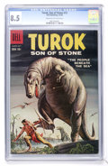 Silver Age (1956-1969):Adventure, Turok #15 (Dell, 1959) CGC VF+ 8.5 Cream to off-white pages....