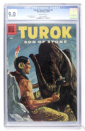 Silver Age (1956-1969):Adventure, Turok #4 (Dell, 1956) CGC VF/NM 9.0 Off-white pages....