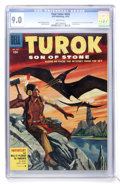 Golden Age (1938-1955):Miscellaneous, Four Color #656 Turok (Dell, 1955) CGC VF/NM 9.0 White pages....