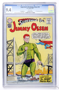 Superman's Pal Jimmy Olsen #53 (DC, 1961) CGC NM 9.4 White pages