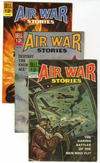 Air War Stories File Copies Group (Dell, 1964-68) Condition: Average VF+.... (Total: 7 Comic Books)