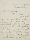 Autographs:Celebrities, [Lincoln Assassination] Unusual Manuscript Collection comprisingthe following: Benn Pitman (official stenographer at th... (Total:7 Items)
