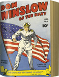 Golden Age (1938-1955):War, Don Winslow of the Navy #1-10 Bound Volume (Fawcett, 1943)....