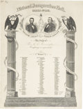 "Political:Inaugural (1789-present), [Abraham Lincoln & Andrew Johnson] 1865 Inaugural BallInvitation. Engraved invitation to the ""National InaugurationBall ..."