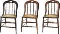 Political:Presidential Relics, Three Chairs from Ford's Theatre, of the Type in Use the Night of Lincoln's Assassination. While there is no documented prov... (Total: 3 Items)