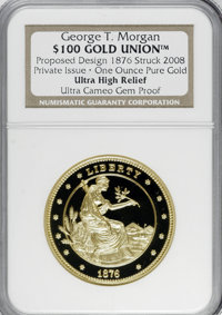 "Private ""1876 $100 Gold Union"" Ultra Cameo Gem Proof NGC....(PCGS# 62401)"