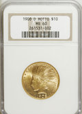 Indian Eagles: , 1908-D $10 Motto MS60 NGC. NGC Census: (22/253). PCGS Population(9/220). Mintage: 836,500. Numismedia Wsl. Price for NGC/P...