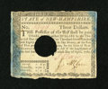 Colonial Notes:New Hampshire, New Hampshire April 29, 1780 $3 Extremely Fine, HOC....