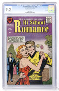 Silver Age (1956-1969):Romance, Hi-School Romance #58 File Copy (Harvey, 1956) CGC NM- 9.2 Cream tooff-white pages....
